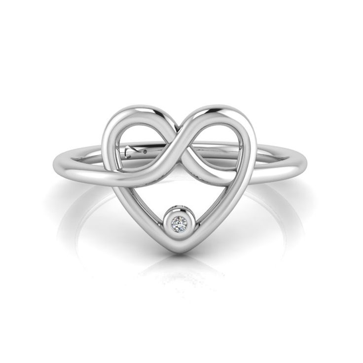 [WHY LOVE] Infinity Heart Collection- Silver Diamond Ring by WHYJewellery