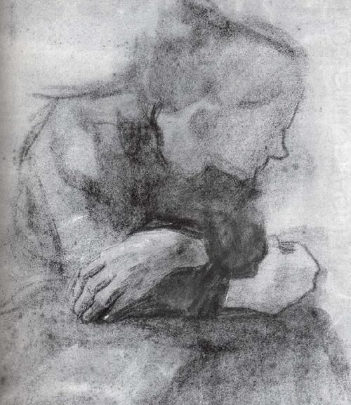 Kathe Kollwitz, Sitting woman with crossed arms, 1904