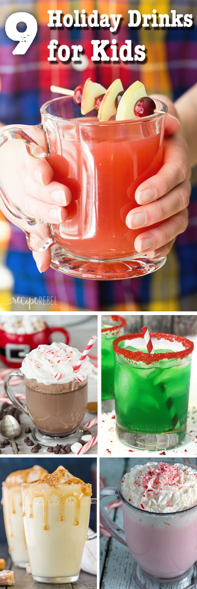 Make the holidays extra special with nine fun holiday drinks just for kids!