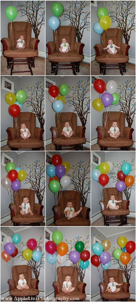 Monthly baby photo idea. Great way to document baby's first year. numbered monthly stickers are great for this!