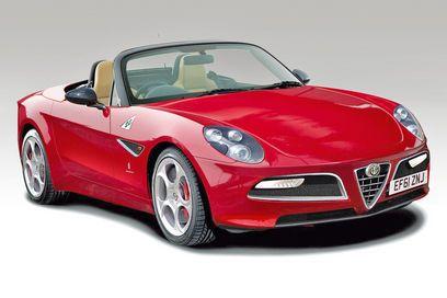New Alfa Romeo Spider front three-quarters 2012 - bit Honda 2000 dare I say it in stance...