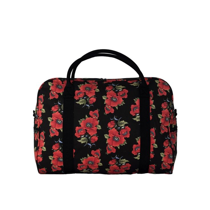 Let your heart run wild and free with the Wild Poppies Duffle Bag. #elephantstripes