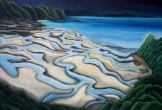 Sand Patterns Wainui Bay by Sage Cox
