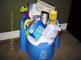 Cute idea - Bday potty training gift for a 2-3 year old