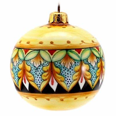 CHRISTMAS ORNAMENT: Deruta Vario - Round Ball Large
