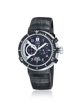 80% OFF CCCP Men's CP-7005-01 Akula Black Stainless Steel Watch