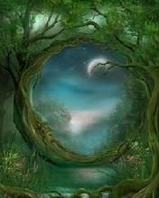 Celtic forest moon