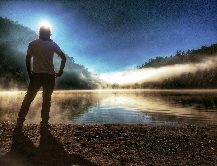 One fine morning at Ranu Kumbolo, the mountainous lake at Mt. Semeru, East Java