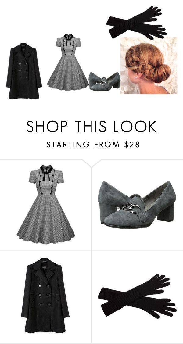 """""""1940's Sunday outfit"""" by cjgibson on Polyvore featuring Aerosoles and agnès b."""