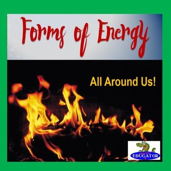 PowerPoint on the Forms of Energy. Introduces 7 basic forms of energy. Defines what energy is, and explains the different types of energy including Mechanical energy, Thermal energy, Chemical Energy,Electrical Energy, Electromagnetic or Radiant Energy, Sound Energy, and Nuclear Energy.