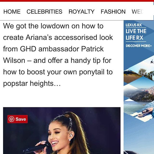 Read All About It! How to get Ariana Grande's chain mail Ponytail ✨✨✨ Get the look @hellomaguk by me for @ghdhair Link above in Bio ⬆️⬆️⬆️ #hellomagazine #arianagrande #ghd #patrickwilson #globalhairdays #onelovemanchaster #onelovemanchesterconcert #ponytail #chainmail #rings #adornment #hairblog #press #pr