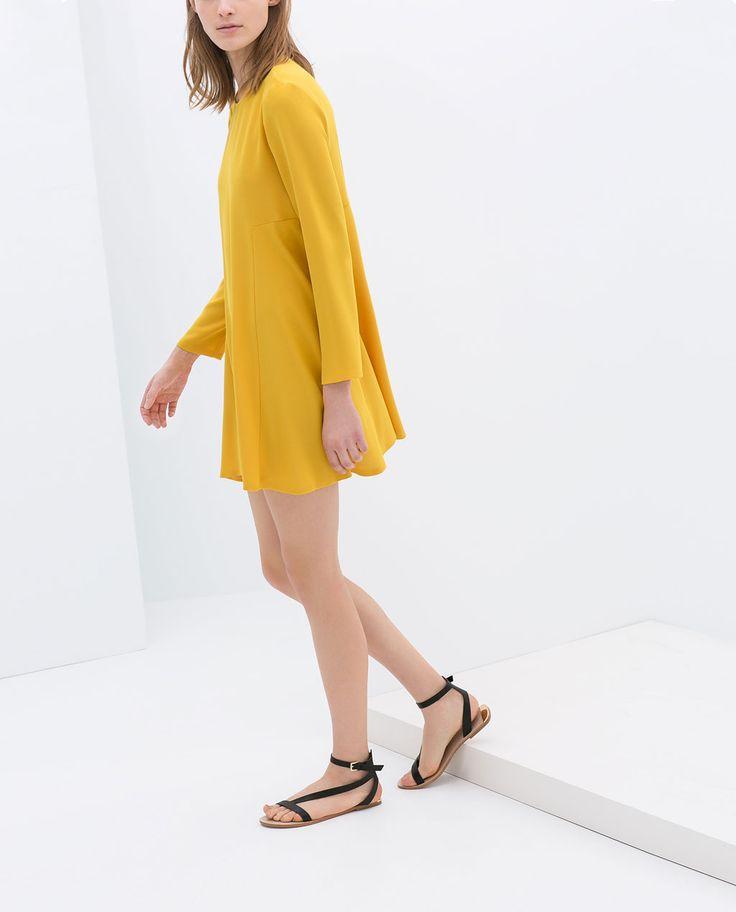 Image 2 of LONG-SLEEVE DRESS from Zara