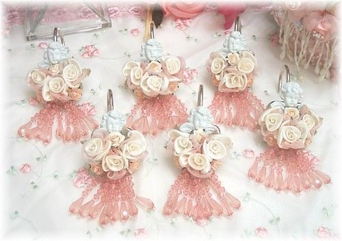 **SUCH PRETTY SHOWER CURTAIN RINGS**  Image detail for -Au petit coin - Shabby Romantic