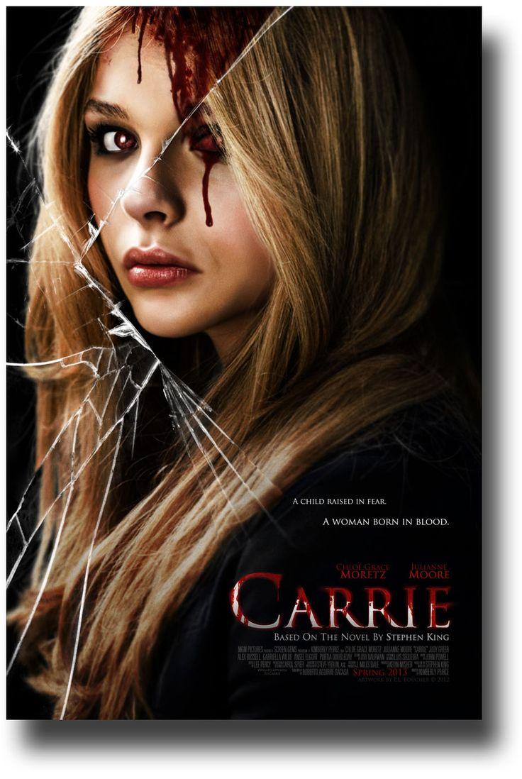 Carrie 2013 Movie Remake poster  Cracked Mirror $9.84 #Chloe #StephenKing #ChloeGraceMoretz