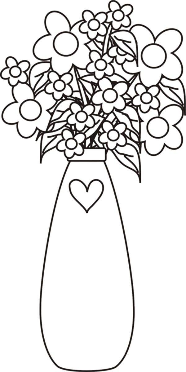 Blumenvasen 10 Ausmalbilder Fur Kinder Malvorlagen Zum Ausdrucken Und Ausmalen Blumen Vase Blumenvase Ausmalen