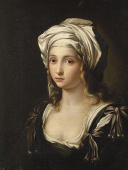 ITALIAN SCHOOL, CIRCA 1800 PORTRAIT OF A YOUNG LADY AS A SIBYL