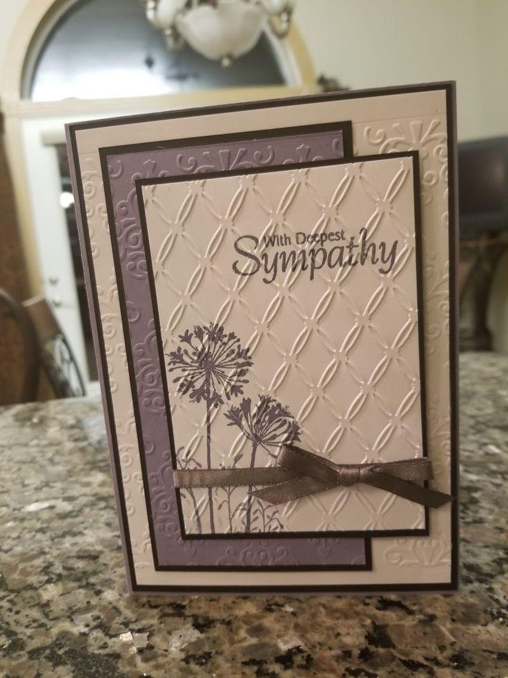 beautiful sympathy card  sympathy cards handmade