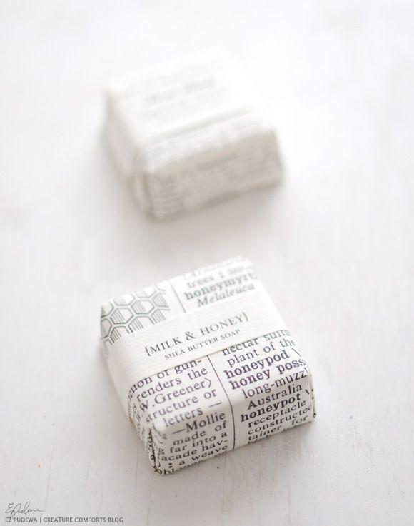 So eine süße Verpackung und ganz einfach mit Zeitungspapier und einem personalisierten Band.