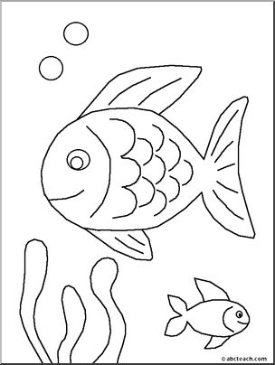 Coloring Book Pages Of Fish : 115 best fish colouring pages images on pinterest