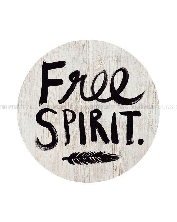 Free Spirit A4 8x10 inch on A4 Print in Natural by theloveshop