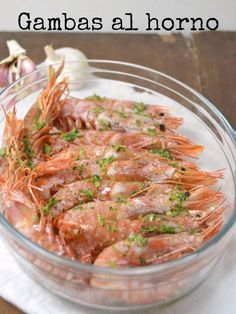 Cuuking! Recetas de cocina: Gambas al horno con ajo y perejil  Pinterest ;) | https://pinterest.com/cocinadosiempre/
