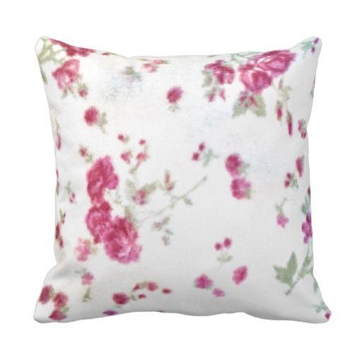 Shabby Chic White Throw Pillows : cute girly floral shabby chic white red fuzzy fun throw pillows Trow pillow Pinterest ...