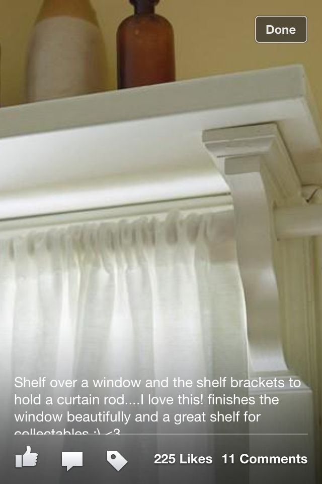 shelf above window.  love.