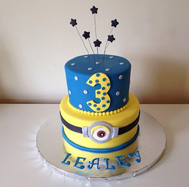 Minion cake by Kristy Dax   cakesbykristy.com