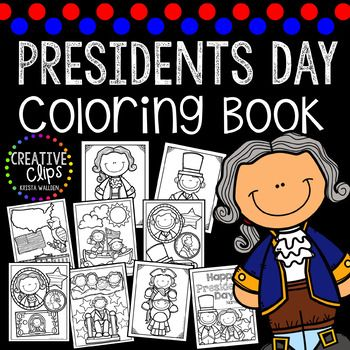 Presidents Day Coloring Book: This 9-page coloring book includes a cover and 8 unique coloring pages. These pages focus on George Washington, Abraham Lincoln and USA symbols. Use these pages for early finishers, indoor recess, parties, writing prompts and more!