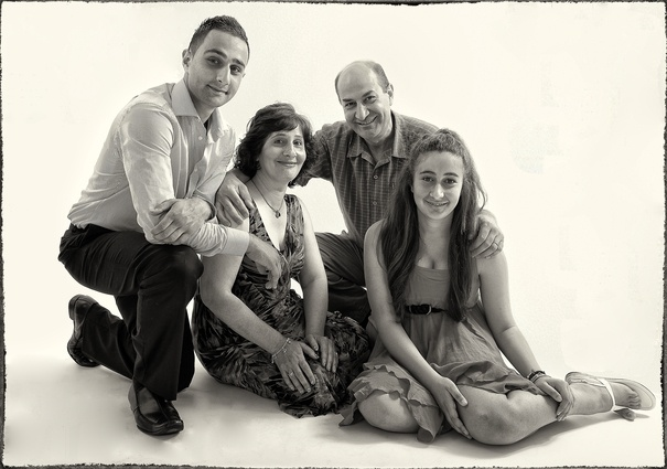 Studio Family Portrait by Ilan Wittenberg