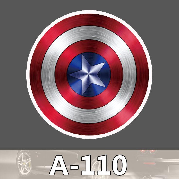 A-110 Капитан Америка Водонепроницаемый Мода Прохладный DIY Наклейки Для Ноутбука Багажа Холодильник Скейтборд Автомобилей Граффити Мультфильм Наклейки #women, #men, #hats, #watches, #belts, #fashion