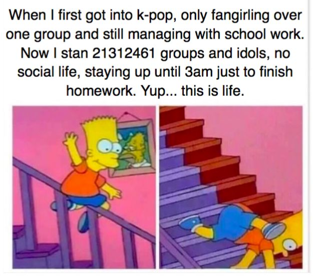 Yes, this is the life of a k-pop fangirl.