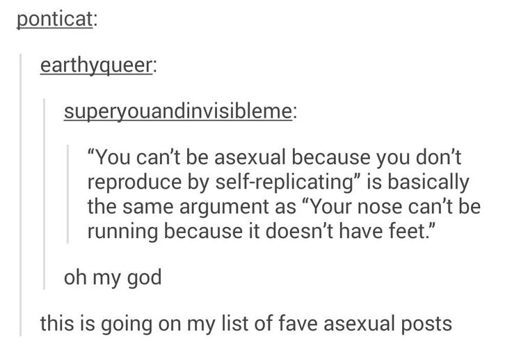 Not to offend, but the two don't even correlate. One is an actual scientific term that is used to describe things that don't need a secondary organism to reproduce. And the other is a play on words/puns.  If you're not sexual, that's your thing, but that would, in all technicality, make you non-sexual, not asexual....cause science