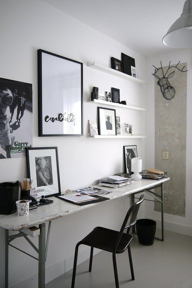 Etxekodeco: Antes y después: Un escritorio en blanco y negro