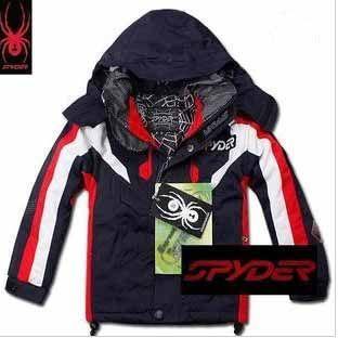 Spyder Kids Ski Wear Black Red