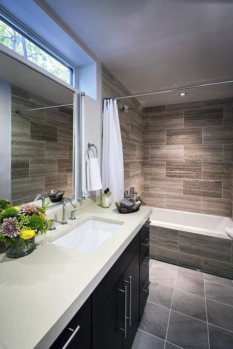 Modern Bathroom With White Solid Surface Countertop Bathrooms Pinterest Solid Surface