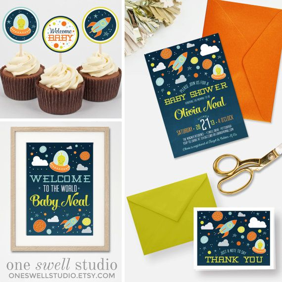 To The Moon And Back Outer Space DIY Printable By Oneswellstudio · Space  Baby ShowerShower ...