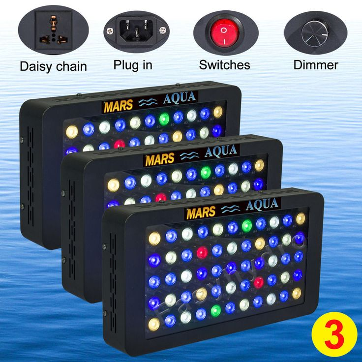 3PCS Dimmable 165W Mars Reef LED Aquarium Light lamp Coral Marine Tank SPS/LPS
