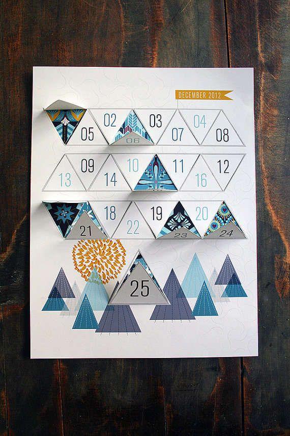 Modern Advent Calendar #AdventCalendar #Christmas #Decor http://www.trendhunter.com