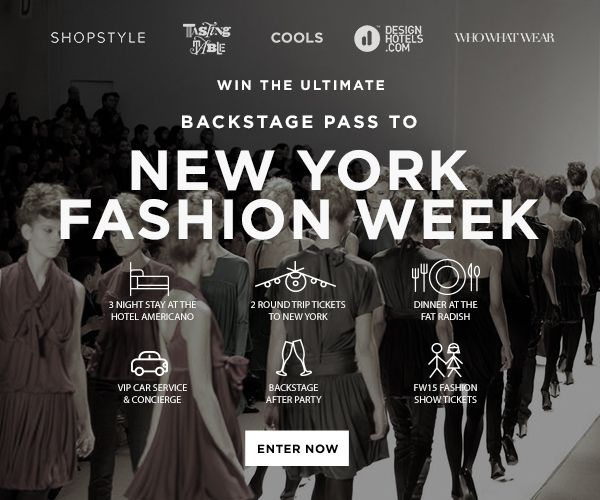 Just entered to win an All-Access Pass to NY Fashion Week from @thecools... Fingers crossed! Enter now:
