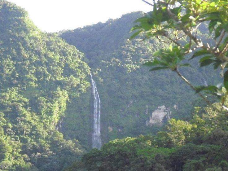 San Francisco Menéndez, Ahuachapán. Cascada en Parque Nacional El Imposible