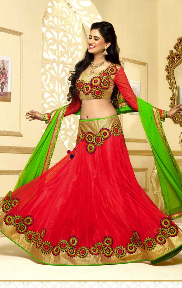 Show details for Charming Red Color Radiant Lehenga Choli