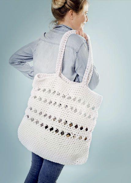 Strandveske | free pattern | crocheted bag | crocheted tote | crochet pattern