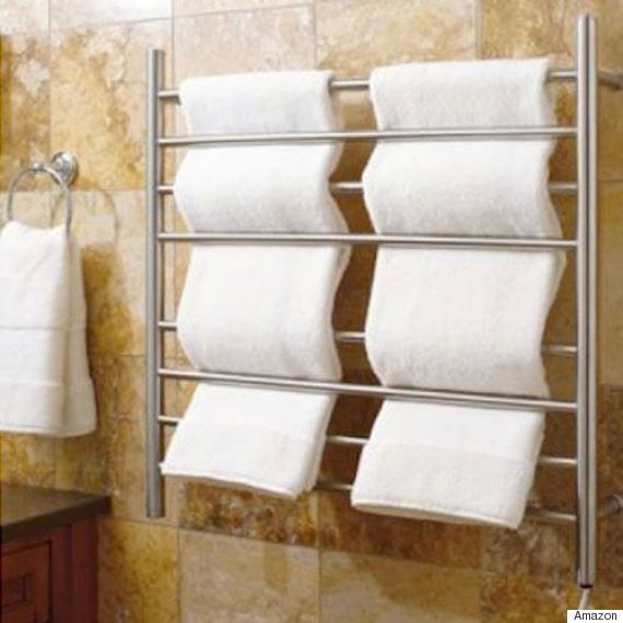 These Awesome Inventions Will Solve All Your Bathroom Woes ~ Heated Towel Rack