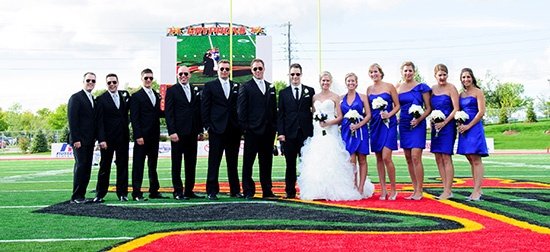 Grads: did you meet the love of your life while you were at U of G? We were inspired by Scott Moccia and Terra Wakeford, two proud Guelph grads who tied the knot while celebrating their Gryphon pride last summer.    Share your story about you and your better half, send us a photo, and you could win a romantic dinner for two in your home town. A winner will be drawn today at 4:30pm. Entries may be edited and featured on www.alumni.uoguelph.ca.