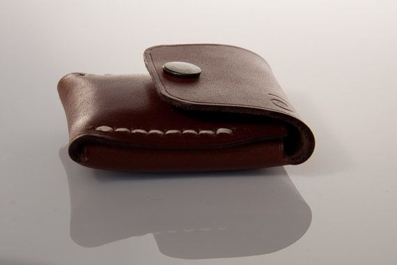 Small Coin Pouch in chestnut, Coin Wallet, Coin Purse, Leather Coin Pouch, Small Leather Pouch, Mens Coin Purse, Leather Wallet, Wallet