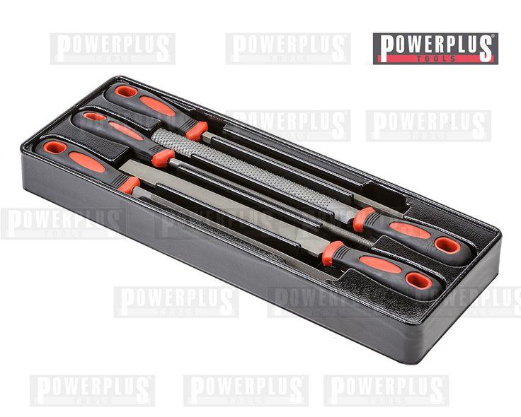 Metallfeilen Set 5-teilig  1 Flache Feile 20 x 5 x 200 mm. + Griff 105 mm. 1 Halb Runde Feile 20 x 6 x 200 mm. + Griff 105 mm. 1 Runde Feile 8 mm Ø x 200 mm. + Griff 105 mm.  1 Vierkant Feile 7 x 7 x 200 mm. + Griff 105 mm. 1 Dreikant Feile 12 x 12 x 12 x 200 mm. + Griff 105 mm.  Preis: € 14,95 zzgl. Versand  https://www.powerplustools.de/werkstattwagen-einlagen-mit-werkzeug/funf-metallfeilen-metallfeilen-satz-in-werkzeugeinlage.html