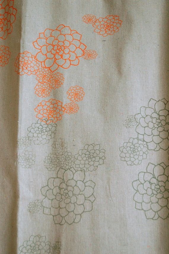 orange and gray shower curtain. Shower Curtain Unbleached Canvas With Orange  By Appetitehome 48 Best Extra Long Images On Pinterest Long