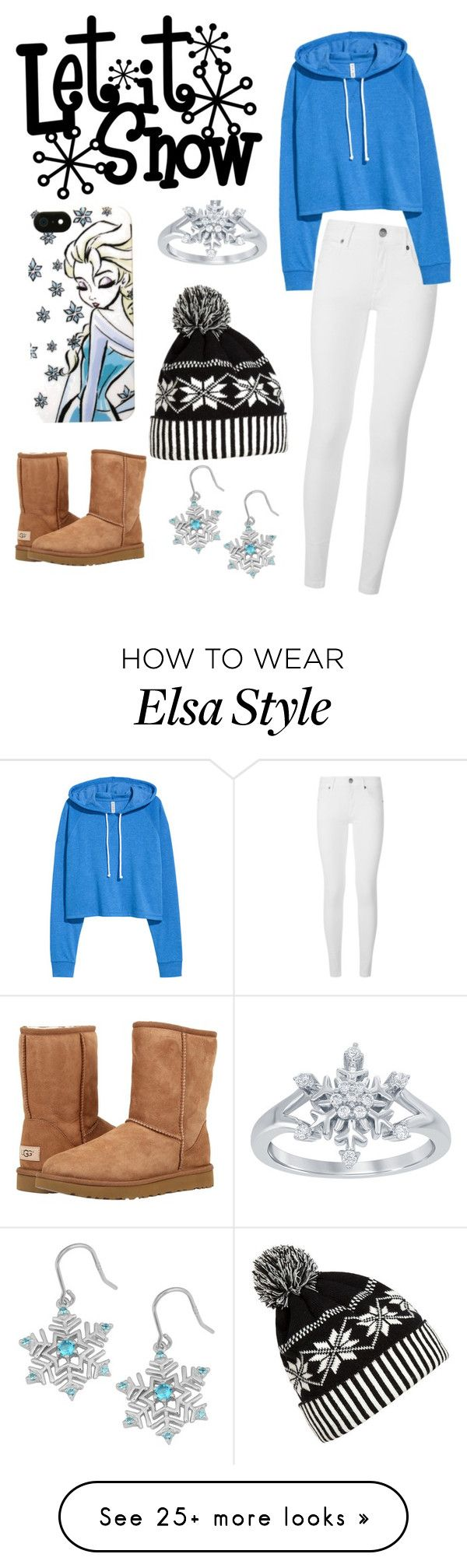 """Princess Elsa Look"" by stylestar1 on Polyvore featuring Disney, WithChic, Burberry, Fremada and UGG Australia"