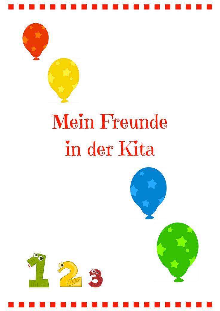 """""""Meine Freunde in der Kita"""" PDF"""